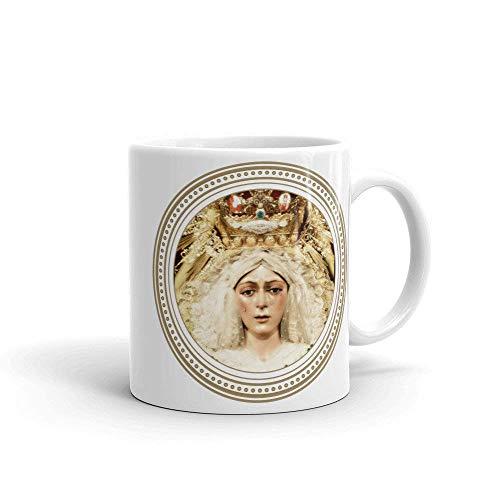 N\A Taza de cerámica - Virgen de los Dolores - Macarena de Sevilla - Decoración Religiosa - Católica de café - Devocional - Regalos religiosos