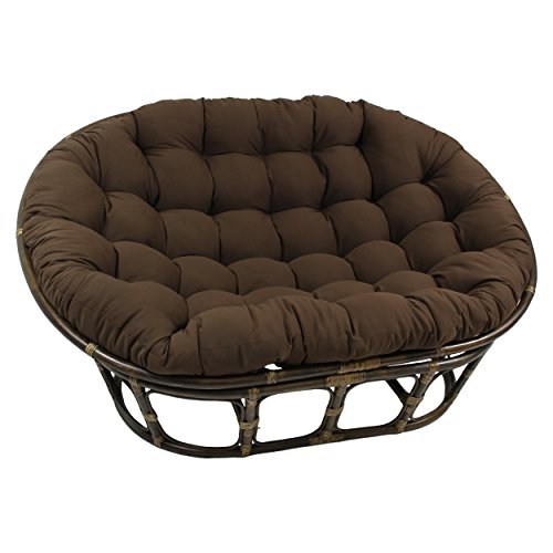 Blazing Needles Solid Twill Double Papasan Chair Cushion, 58' x 6' x 78', Toffee