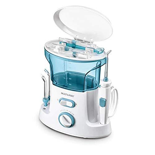 Irrigador Oral Clearpik Limpeza Profunda MultilaserBranco/Azul - HC037, Multilaser, HC037, Branco e Azul
