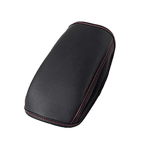 LFOTPP Funda para Reposabrazos Seat Leon Cupra, Protección del Apoyabrazos, Evita Arañazos, Fácil de Lmpiar, Consola Coche Interior Accesorios (Rojo)