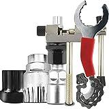 Cortador de cadena 5pcs / set de reparación de bicicletas Juegos de herramientas Cadena Bicicletas cortador herramienta de la llave Soporte del volante removedor tirador inestable mantenimiento