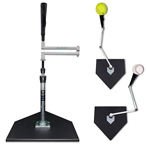 Infinitee/Tanner Traditional Hitting Tee Combo - Infinite Position Batting Tee for Baseball and Softball