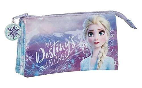Frozen II Estuche portatodo Triple Escolar