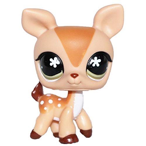 FINIMY Pet Shop Toys Lps Toy Littlest Lps Cat Old Original Deer Fawn Mommy Brown Tan Beige Spots Blue Dot Eyes for Girls Collection 634