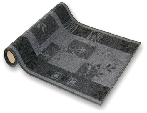 der Meisterei Teppichläufer Flur Läufer Brücke Teppich Agadir Akzent grau Meterware rutschfest 80 cm breit 80 x 350 cm Sale in 44 Größen