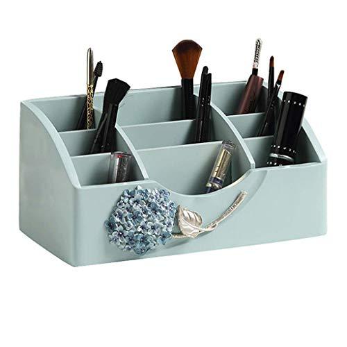 GYY Boîte de Rangement pour cosmétiques Boîte de Finition pour Bureau créatif Boîte de Rangement pour cosmétiques (Color : Blue, Size : 25.5 * 13 * 12