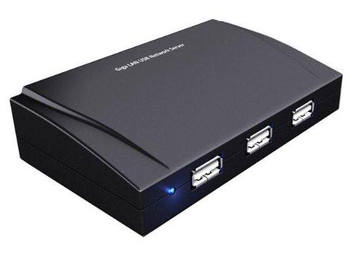 Sedna Gigabit Network Server - Servidor de Red USB (1xRJ45/4xUSB 2.0), Negro