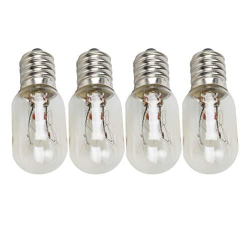 Uonlytech 4Pcs 25W Mikrowelle Glühbirnen E14 Gerätelampen Ersatzlampen für Ge Mikrowelle Mikrowelle
