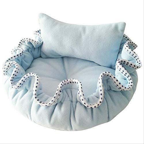 XSHIYQ Haustierbett Winter warmes Fleece Blumenknospenform Kleines Prinzessinnenbett mit Kissen für Welpenhundehaustierbedarf
