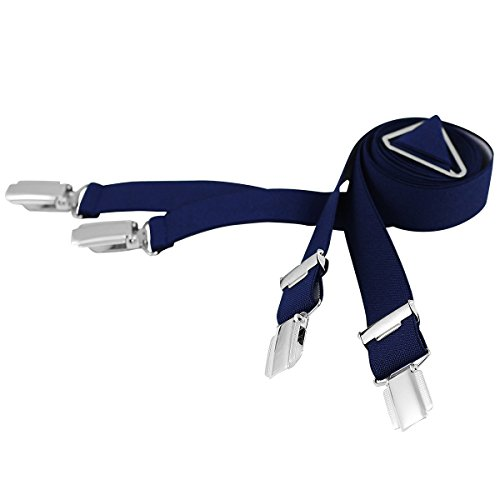 Lindenmann Mens Braces/Suspenders/mens suspenders, X-shape, 25 mm stetch, XXL, navy blue, 9155-005, Größe/Size:110