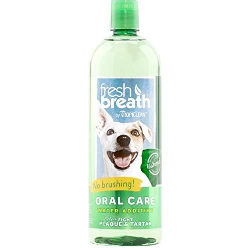 TropiClean Fresh Breath Plaque Remover Pet Water...