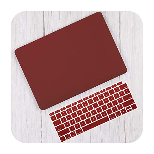 Matte Plastic Hard Shell Cover for MacBook Air 13 Inch A2337 A2179 2020 Pro 13 16 Touch Bar A2141 A2338 A2289 Case + Keyboard Skin-Wine Red-Air11 A13700 A146 5