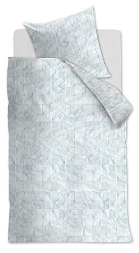 At Home 174624 Fair Parure de lit en Coton renforcé avec Housse de Couette 155 x 220 cm et taie d'oreiller 80 x 80 cm Blanc