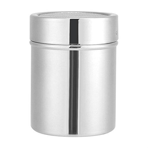 Schokoladen Shaker, Edelstahl Pulver Shaker Mesh Shaker Pulver Dosen für Kaffee Kakao Zimt Pulver mit Deckel Mehl Kaffeesieb Art Schablonenformen(1)