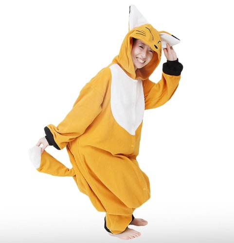 Japan Sazac Original Kigurumi Pajamas Halloween Costumes Fox Cosplay (japan import)