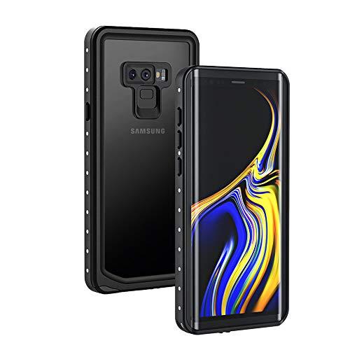 Lanhiem für Samsung Galaxy Note 9 Hülle, IP68 Zetrifiziert Wasserdicht Handyhülle 360 Grad Panzerhülle, Stoßfest Staubdicht Schneefest Outdoor Schutzhülle mit Eingebautem Bildschirmschutz, Schwarz