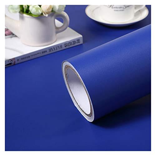 NXCY01 3M / 5M Matt Color Sólido Papel Pintado Roll Mueble Gabinete Renovación Pegatinas Sala de Estar Habitación Dormitorio Decoración de Pared autoadhesiva (Color : Azul, Talla : 40cmX5m)