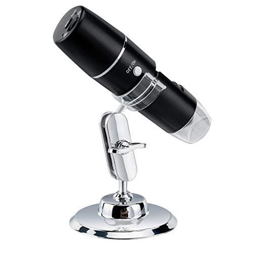 WiFi USB Mikroskop 2 MP Digital Mikroskop Kamera 1600x Zoom Kindermikroskop 1080P Full HD Mini mikroskop mit 8 LEDs Mikroskop Digital Kompatibel mit iPhone iOS Android Phone iPad Windows Mac