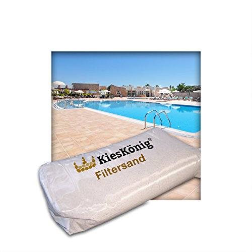 Kieskönig 25 kg Filtersand geeignet für Poolfilteranlagen Sandfilteranlage Körnung 0,4/0,8 mm
