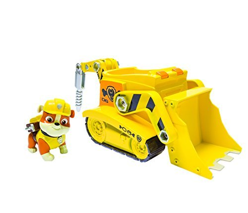 Nickelodeon, Paw Patrol – Rubble's Digg'n Bulldozer, Vehicle and Figure