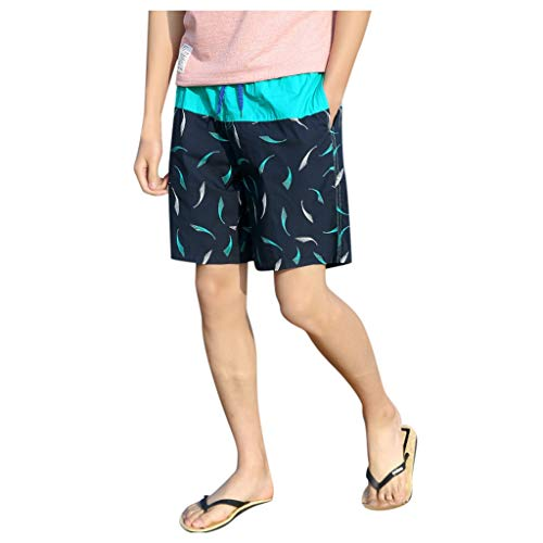 Yajiemen Mens Swim Trunks Quick Dry Beach Swimwear Surfing Print Running Swimming Watershort Beachwear