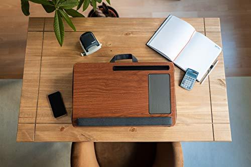 GUS | DESIGN® Laptopunterlage/Lapdesk | Geeignet für Bett/Couch inkl. Mousepad, Handgelenksauflage und Tablet/Handyhalter mit Laptopkissen | Geeignet für max. 17 Zoll Notebook