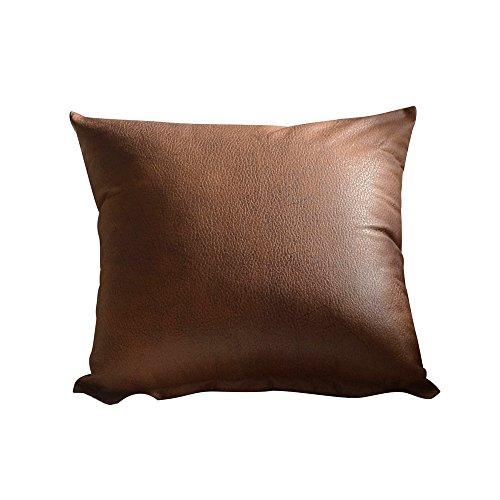 Kissenbezüge Einfarbig Leder Kissenbezug Deko 45x45 Kissenhülle Unifarben Quadratisch Kopfkissenbezug