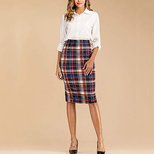 Jasje Dames Temperament Slim pakket hippe kokerrok en lange stukken, Fabric: Polyester (Color : Black Blue, Size : M)