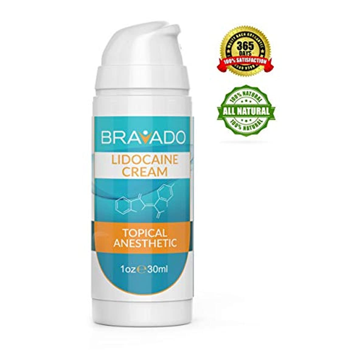 Premium Numbing Cream - Bravado Labs - 5% Lidocaine Topical Pain Treatment for Tattoos, Face, Laser Hair Removal, Brazilian Waxing, Microblading, Microneedling - Maximum Strength (1 oz)