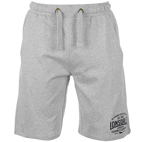 Lonsdale leichte Herren-Box-Shorts Medium grau