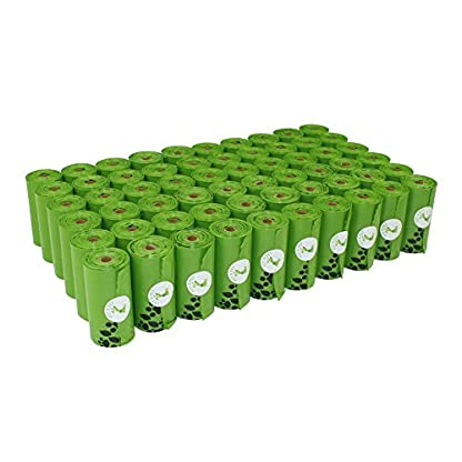 PET N PET Earth-Friendly 1080 Counts 60 Rolls Large Unscented Dog Waste Bags Doggie Bags Green Color 1