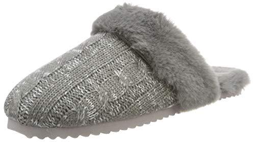 flip*flop Slip Knit Damen Hausschuhe, Grau (Grey 0300), 39 EU