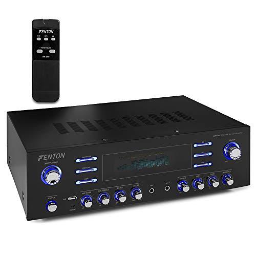 Fenton Bluetooth 5 Channel Surround Sound Amplifier USB Aux Home Theatre...