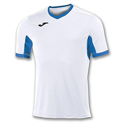 Joma Champion IV M/C Camiseta Equipamiento, Hombre, Blanco/Royal, 6XS-5XS