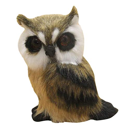 Leobtain Realistic Baby Owl Simulation Owl Doll Toy Photography Props Household Crafts