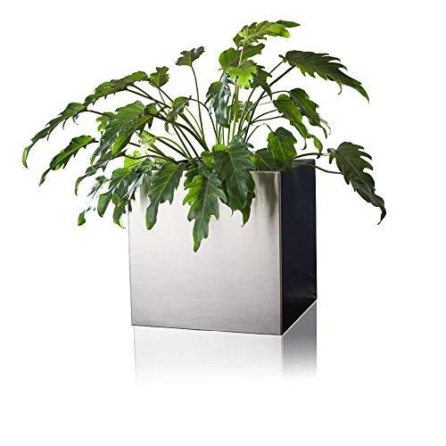 Pot pour plantes CUBO 40 acier inoxydable, 40x40x40 cm
