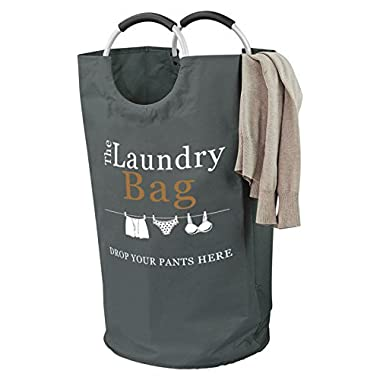 The Fine Living Company USA - Drop Your Pants Here Laundry Hamper - Premium Quality Bag with Aluminium Handles, Large 81L - 15% Bigger Than Other Bags