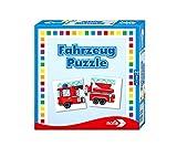 Noris 608985663 Fahrzeug Puzzle, das Memo Spiel mit bekannten Fahrzeugen aller Art, Reise und Mitbringspiel, ab 3 Jahren