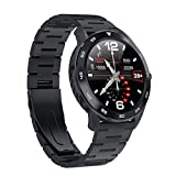 Fine DT98 1.3inch IP68 Waterproof Smart Watch,Blood Pressure/Heart Ra-te Monitor Watch Sleep Tracker,Full Touch Screen Sport Smartwatch Fitness Bracelet (Black)