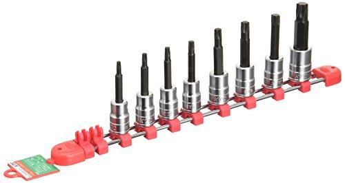 京都機械工具(KTC) 9.5mm (3/8インチ) T型 トルクス ビットソケット セット 8個組 TBT308T