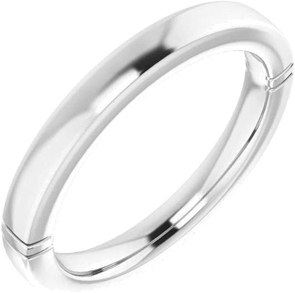14kt White Gold 11mm Cushion 7 Size in Band Wedding Cheap Japan Maker New mail order shopping