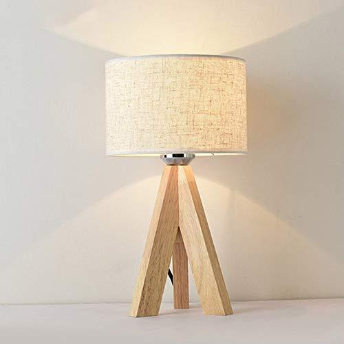 Mengjay Lámpara de mesa de noche Lámpara de mesa moderna - Lámpara de luz nocturna...