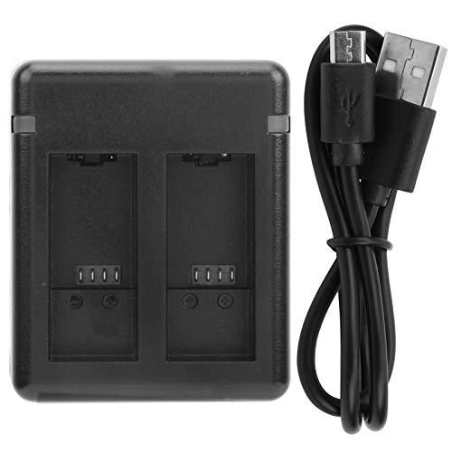 Salaty Cargador de batería de Doble Puerto, Cargador de batería de plástico, para batería de cámara Accesorios de cámara Gopro 9