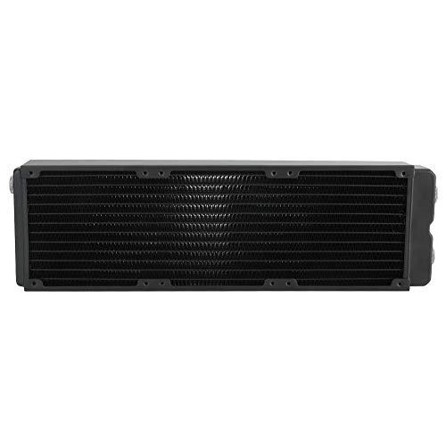 Zunate Radiador de refrigeración por Agua, radiador intercambiador de Calor de 45 mm, radiador de Cobre con disipador de Calor de Doble Capa, para PC CPU Sistema de refrigeración por Agua