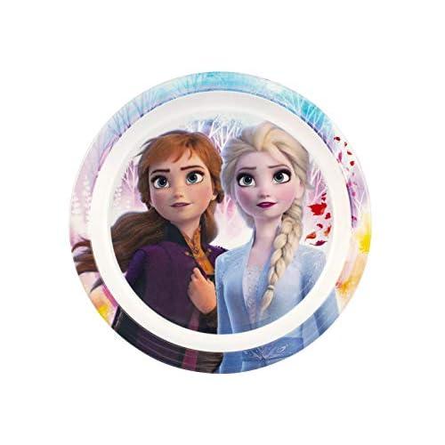 Lulabi Disney Frozen Piatto Piano, Melamina, 21.5Cm