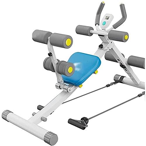 PWV Entrenadores abdominales Lazy Belly Curling Machine Máquina Abdominal plegable para ejercicios abdominales, con rodamientos de aproximadamente 150 kg (color blanco)