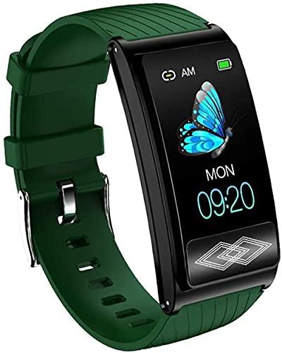 DHTOMC Hombres y mujeres reloj inteligente IP68 impermeable reloj inteligente sueño salud monitor multi-deporte reloj Grench