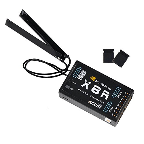 LITEBEE Frsky Empfänger X8R Receiver, Frsky Taranis 16CH 2.4ghz ACCST RSSI SBUS kompatibel Frsky X9D Plus X9E X12S Sender Transmitter for RC FPV Racing RC Drone Quadcopter by