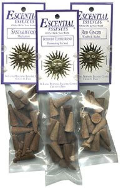 Buddhist Temple Blend Cone Incense Escential Essences