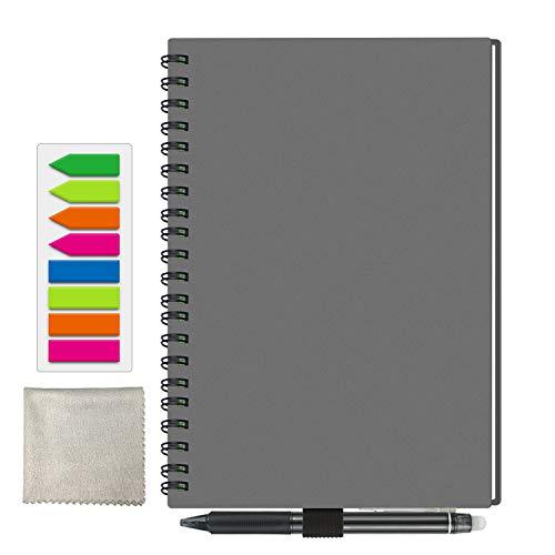 Riutilizzabile Smart Notebook, A5 Cancellabile Taccuino Archiviazione cloud per Alunno Artchitect Giornalista Scrittore Grigio